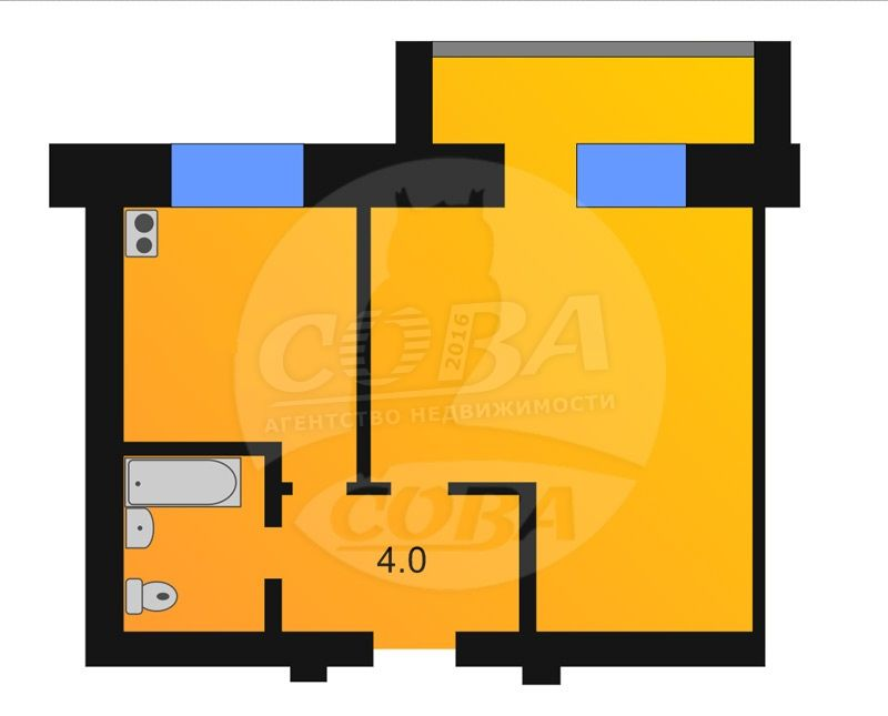 1 комнатная квартира  в районе За ЖД линией, ул. Вокзальная, 1Г, п. Винзили