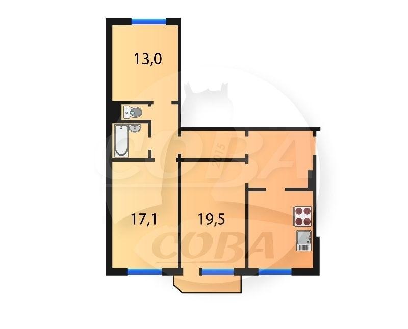 3 комнатная квартира  в 3 микрорайоне, ул. Широтная, 83, г. Тюмень