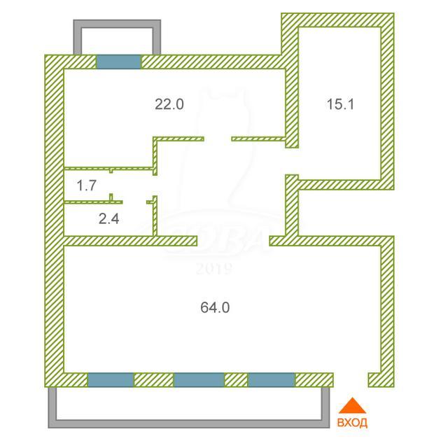 Нежилое помещение в жилом доме, продажа, в центре, п. Винзили