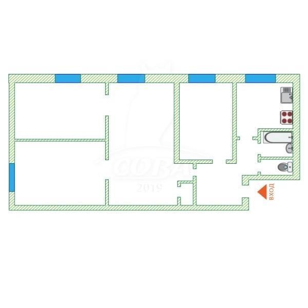 4 комнатная квартира  в районе Маяк, ул. Карла Маркса, 106, г. Тюмень