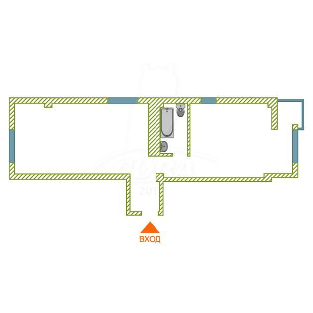 3 комнатная квартира  в районе Адлер Центр, ул. Гастелло, 28, ЖК «Континент», г. Сочи