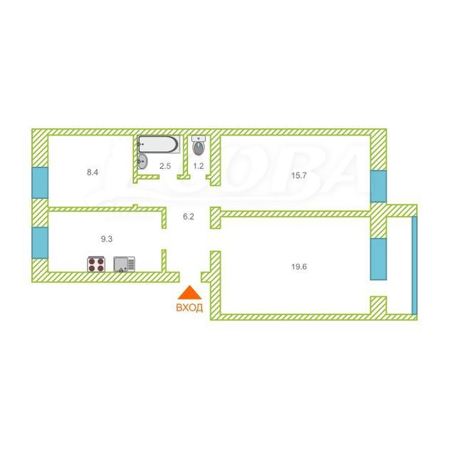 3 комнатная квартира  в районе центральная часть, ул. Мира, 14, п. Боровский