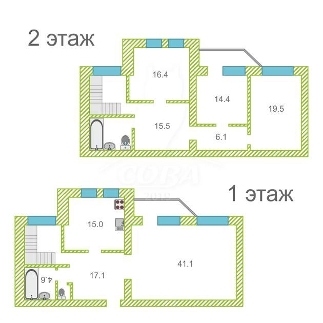 4 комнатная квартира  в районе Драмтеатра, ул. Карская, 36/2, г. Тюмень