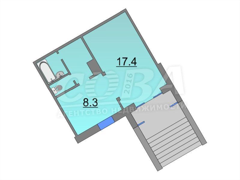 Торговое помещение в жилом доме, продажа, в 4 микрорайоне, г. Тюмень