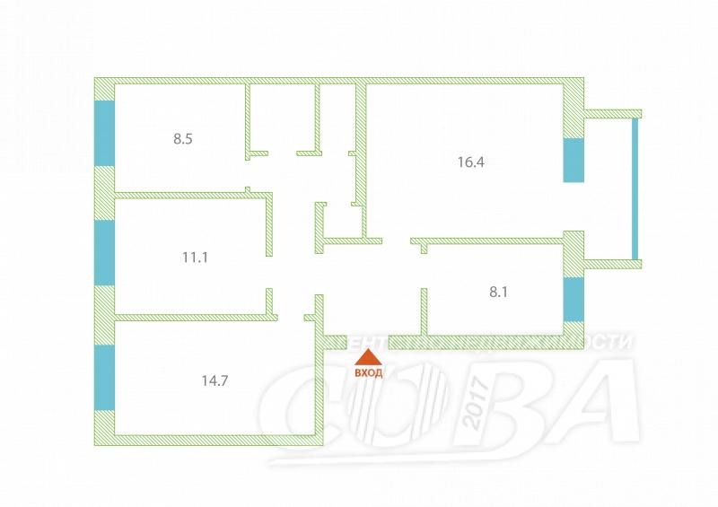 4 комнатная квартира  в районе Парфенова, ул. Тимуровцев, 32, г. Тюмень