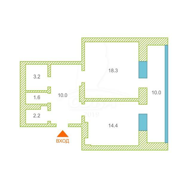 1 комнатная квартира  в Тюменском-2 мкрн., ул. Прокопия Артамонова, 8, г. Тюмень
