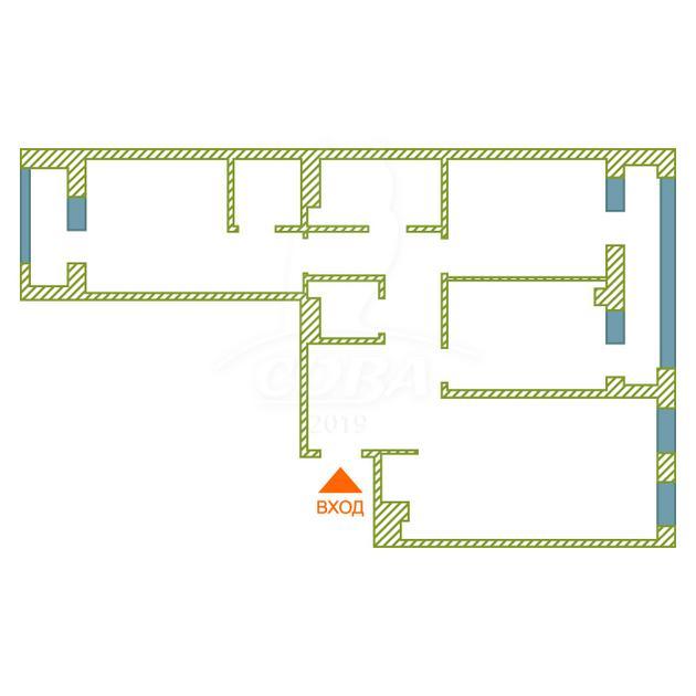 3 комнатная квартира  на КПД в районе 50 лет Октября, ул. 50 лет Октября, 57А, Жилой квартал «Новин», г. Тюмень