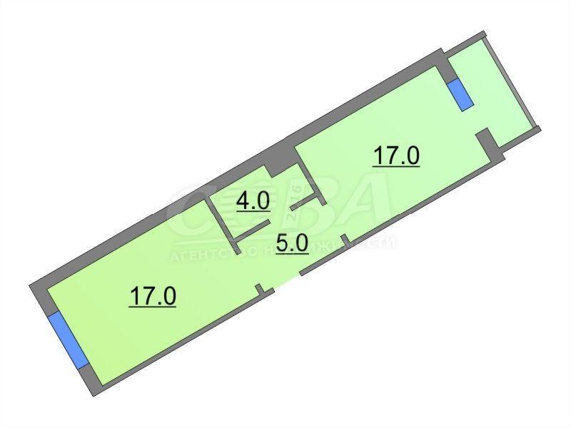 1 комнатная квартира  в районе ММС, ул. Сидора Путилова, 45, Жилой комплекс «Лукоморье», г. Тюмень