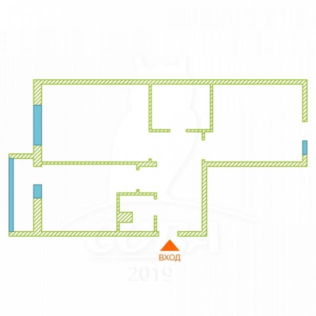 2 комнатная квартира  в Европейском мкрн., ул. Тихий проезд, 4, Микрорайон «Европейский», г. Тюмень