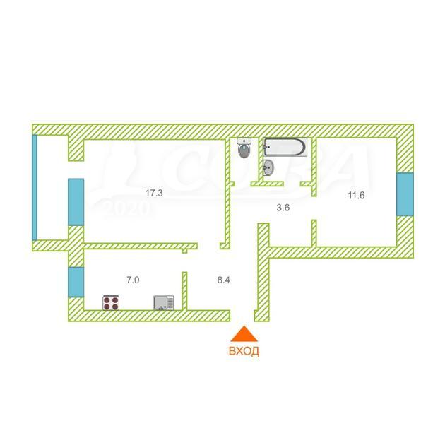 3 комнатная квартира  в районе центральная часть, ул. Мира, 11, п. Боровский