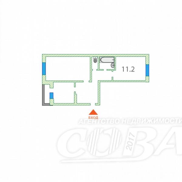 2 комнатная квартира  в районе Энергетиков, ул. Просвещения, 27, г. Сургут