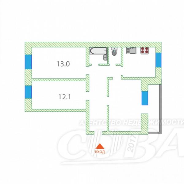 3 комнатная квартира  в районе Лесобаза (Тура), ул. Домостроителей, 4А, г. Тюмень