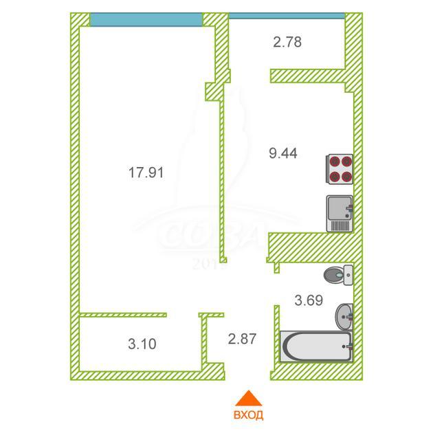 1 комнатная квартира  в районе Дагомыс, ул. Старошоссейная, 5/2, ЖК «Каравелла Португалии», г. Сочи