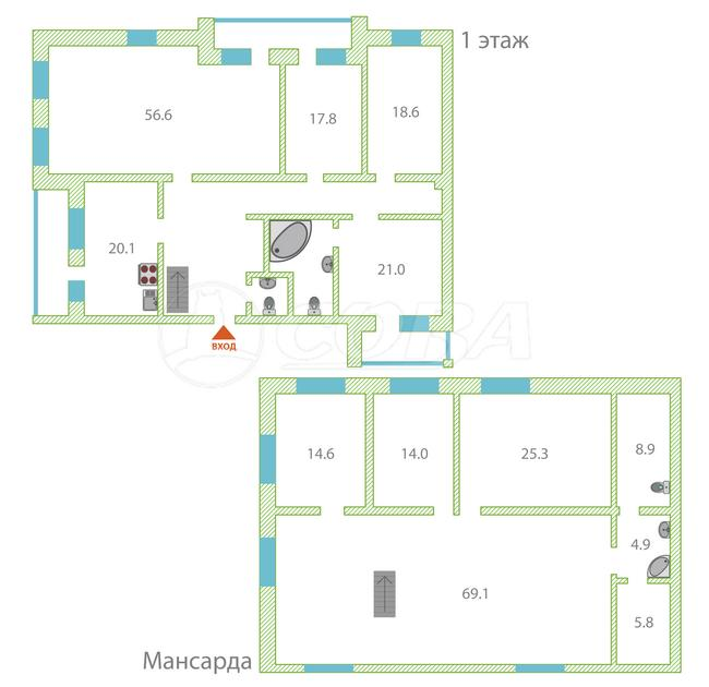 Многокомнатн. квартира  в историческом центре, ул. Советская, 4, г. Тюмень