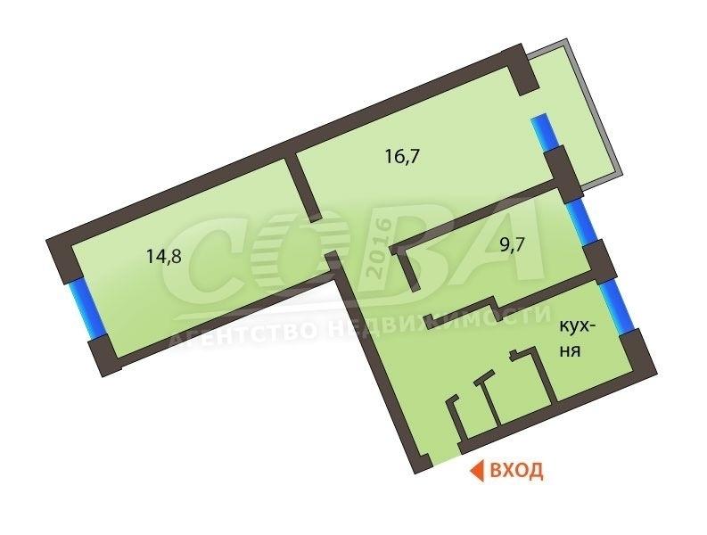 3 комнатная квартира  в районе Маяк, ул. Карла Маркса, г. Тюмень