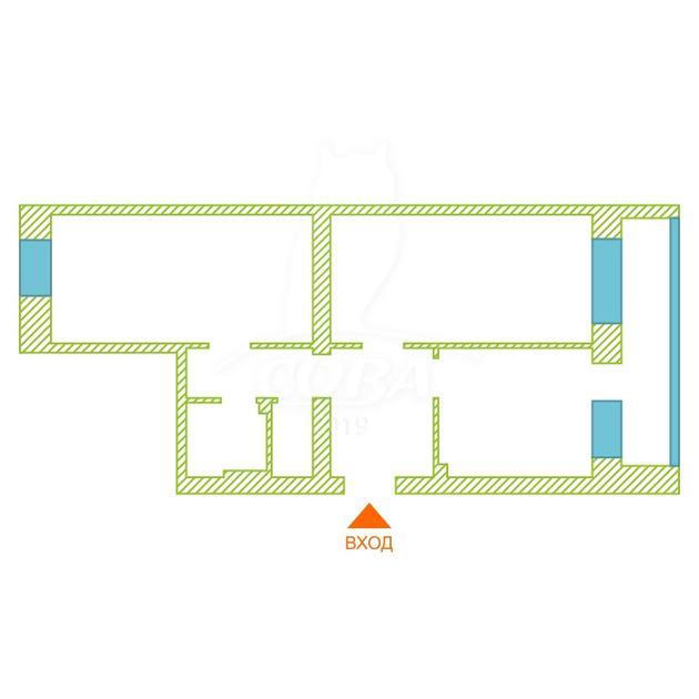 2 комнатная квартира  в районе Подгорный Тобольск, ул. Декабристов, 29, г. Тобольск