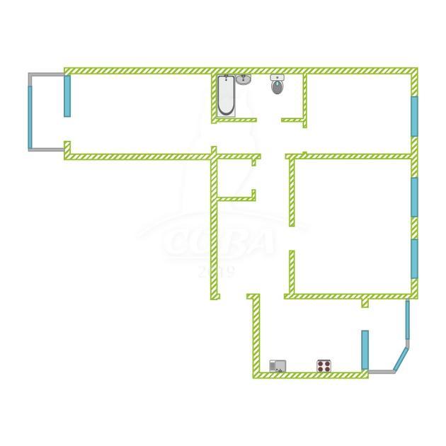 3 комнатная квартира  в районе Южный 2/ Чаплина, ул. Депутатская, 80, г. Тюмень