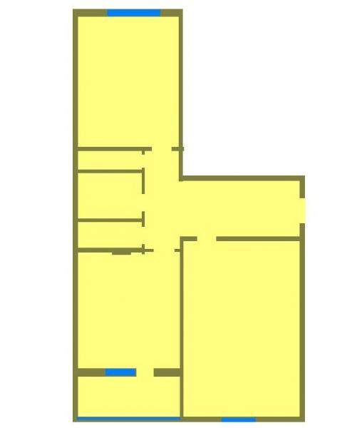 2 комнатная квартира  в районе Югра, ул. Магаданская, 13, г. Тюмень