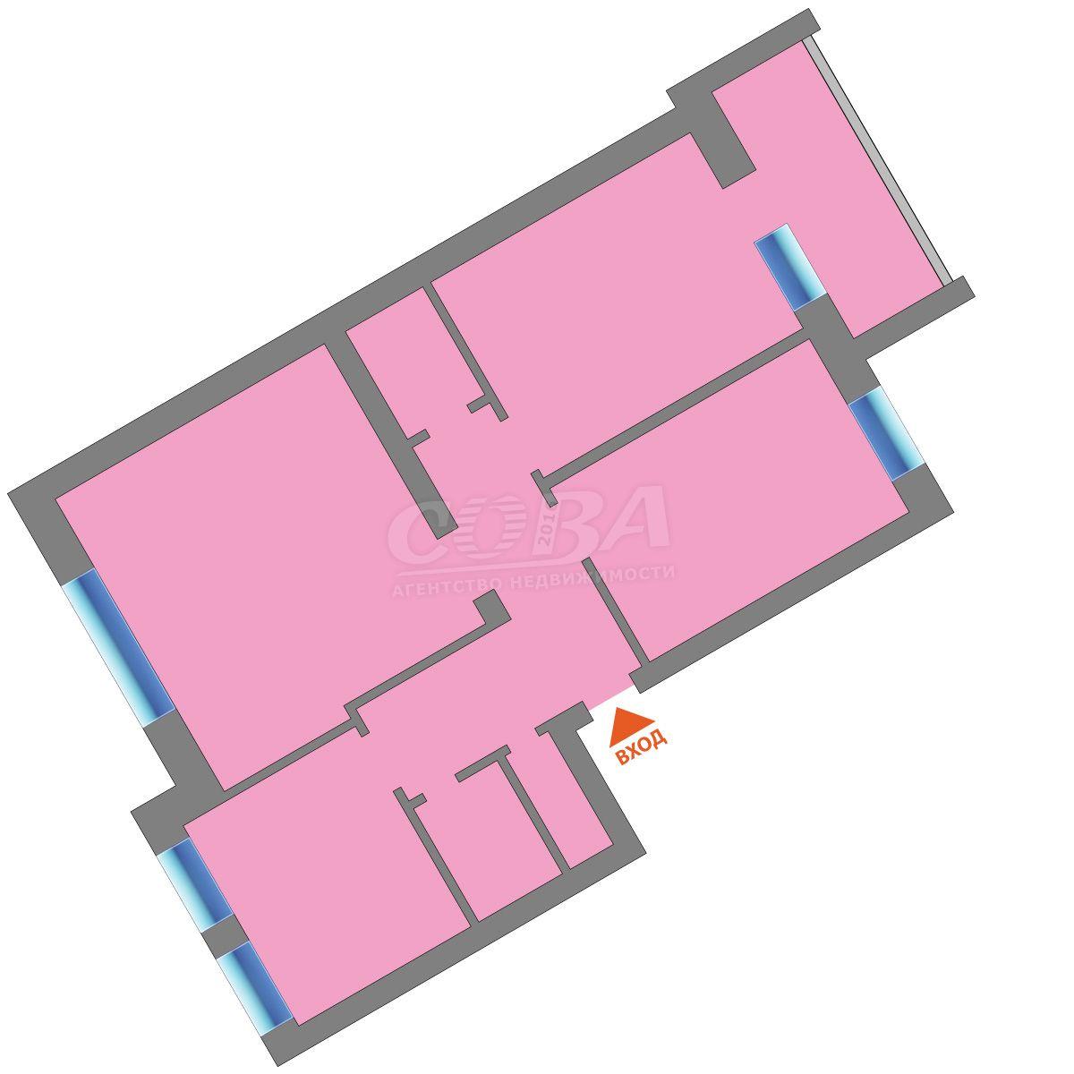 4 комнатная квартира  в районе Подгорный Тобольск, ул. Розы Люксембург, 10, г. Тобольск