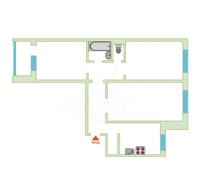 3 комнатная квартира  в районе Нагорный Тобольск, ул. микрорайон 7А, г. Тобольск