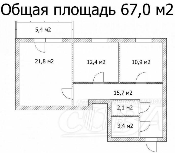 2 комнатная квартира  в районе Нефтегазового университета, ул. Энергетиков, 24, г. Тюмень