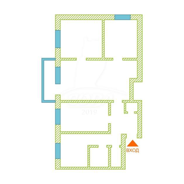 4 комнатная квартира  в районе Нагорный Тобольск, ул. 4-й микрорайон, 5, г. Тобольск