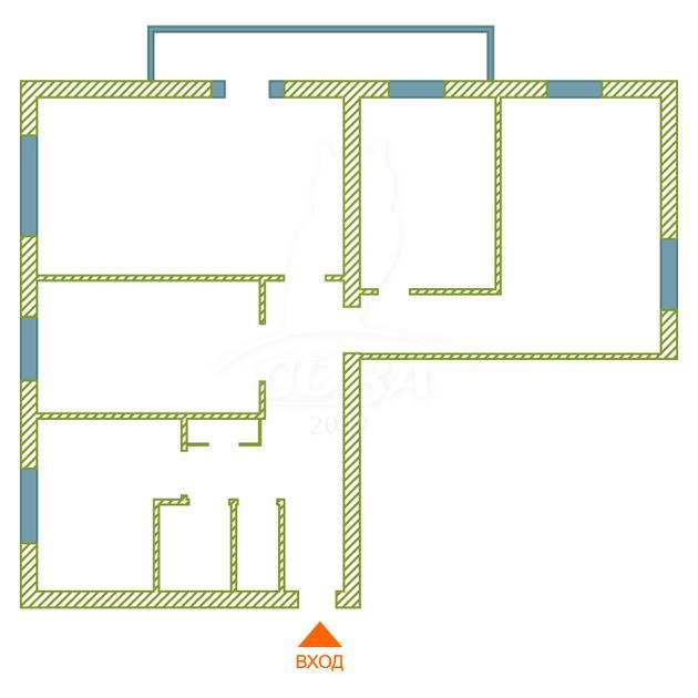 4 комнатная квартира  в районе Нагорный Тобольск, ул. микрорайон 7А, 6, г. Тобольск