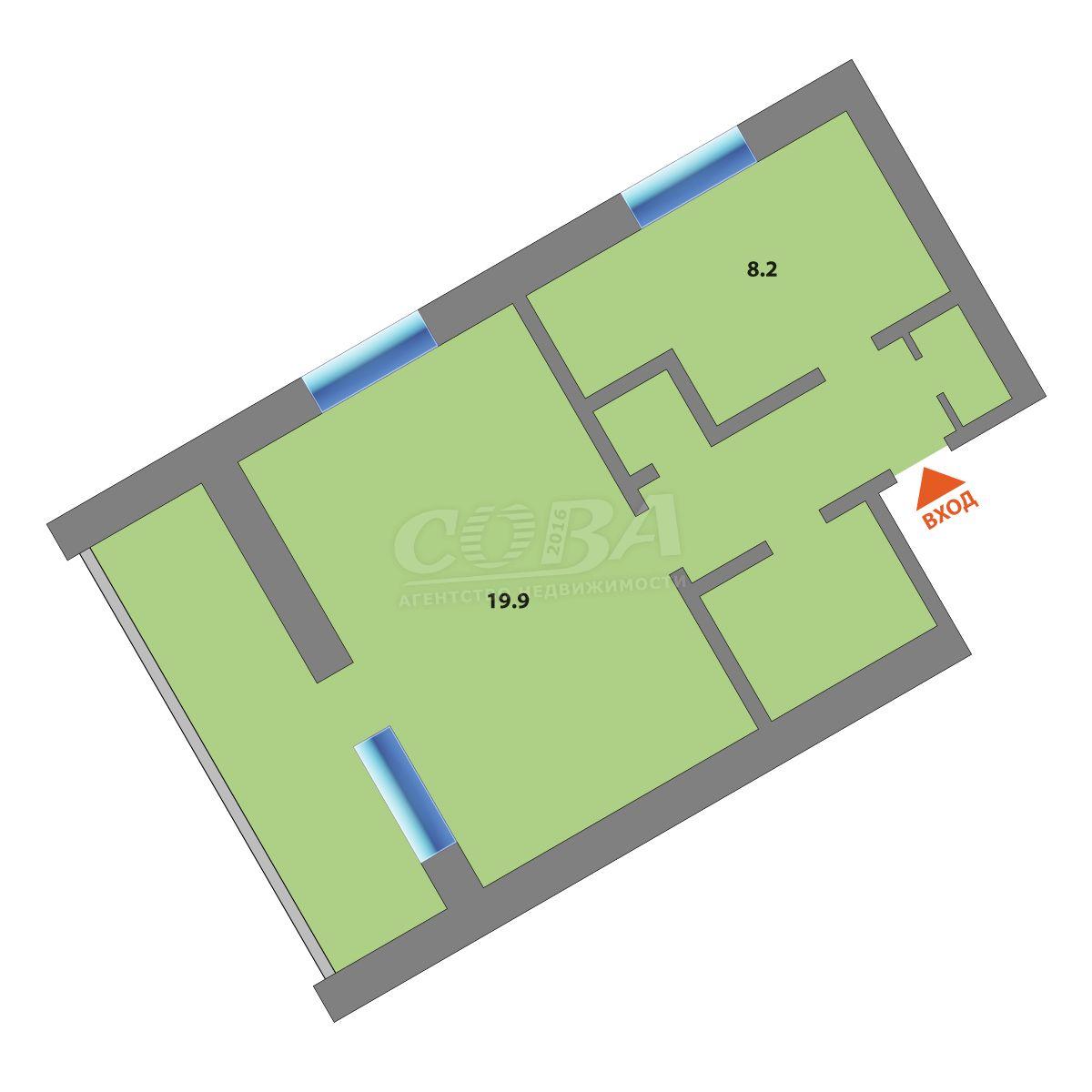 1 комнатная квартира  в центре, ул. Зеленая, 25А, п. Винзили