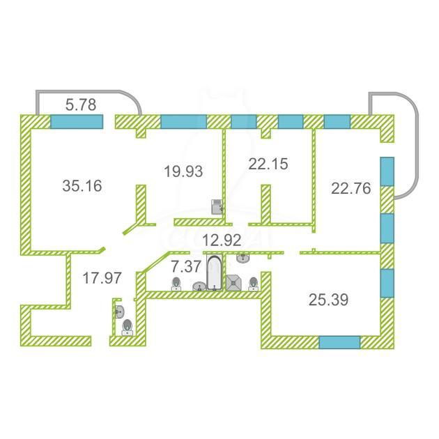 4 комнатная квартира  в районе Дома печати, ул. Советская, 51/2, г. Тюмень