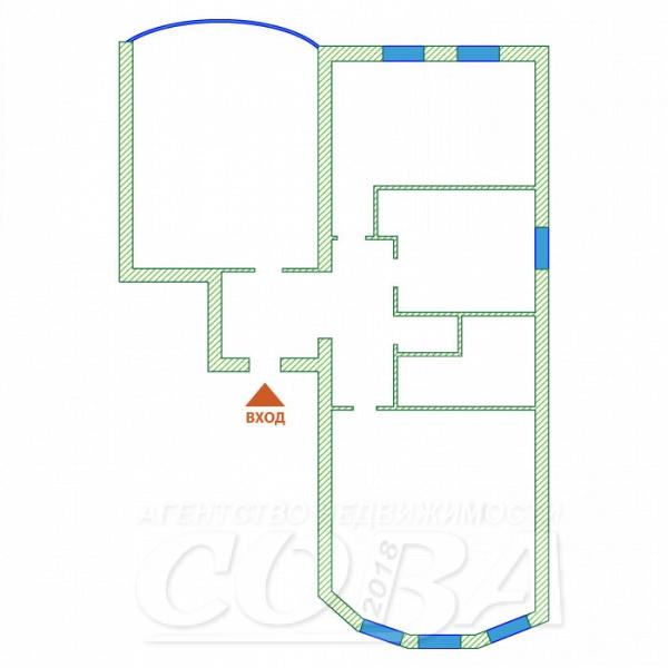3 комнатная квартира  в центре Тюмени, ул. Короленко, 12, Жилой дом на ул. Достоевского, г. Тюмень