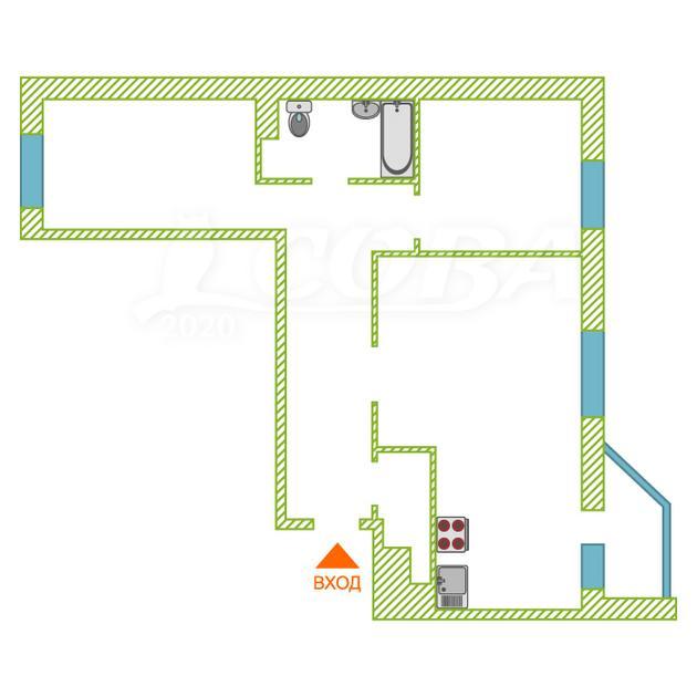 3 комнатная квартира  в районе Мыс, ул. Тимофея Чаркова, 81, ЖК «Звездный городок», г. Тюмень
