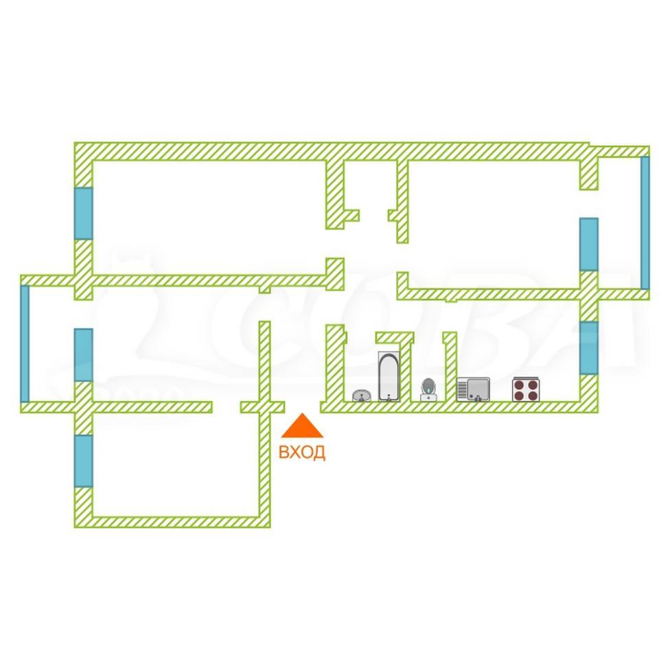4 комнатная квартира  в районе Центральный, ул. 1-й Микрорайон, 3, п. Белый Яр