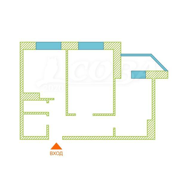 2 комнатная квартира  в районе Тюменская слобода, ул. Арктическая, 7, Микрорайон «Ямальский-2», г. Тюмень