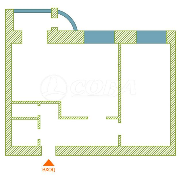 2 комнатная квартира  в районе Университет, ул. 30 лет Победы, 10, г. Сургут
