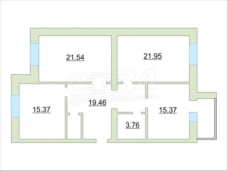 3 комнатная квартира  в Восточном 2 мкрн., ул. Широтная, 209, г. Тюмень