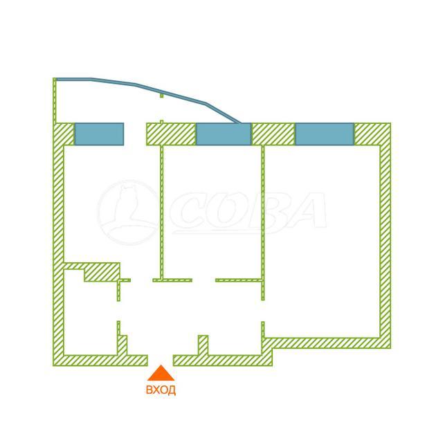 2 комнатная квартира  в районе Университет, ул. Университетская, 11, г. Сургут