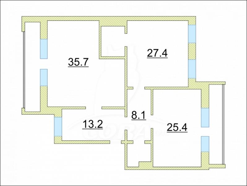 3 комнатная квартира  в районе Червишевского тр., ул. Самарцева, 29, г. Тюмень
