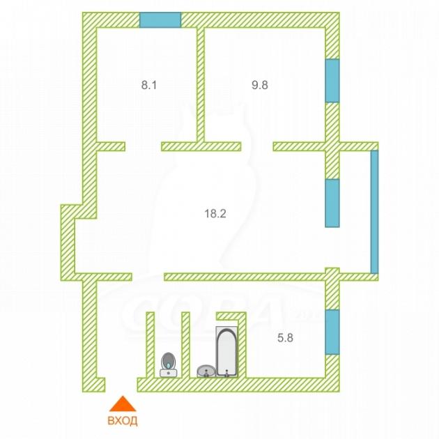 3 комнатная квартира  в районе Нагорный Тобольск, ул. 4-й микрорайон, 9А, г. Тобольск