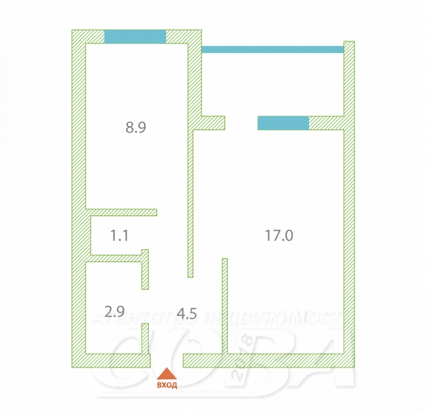 1 комнатная квартира  в районе Южный 2/ Чаплина, ул. Николая Чаплина, 126, г. Тюмень