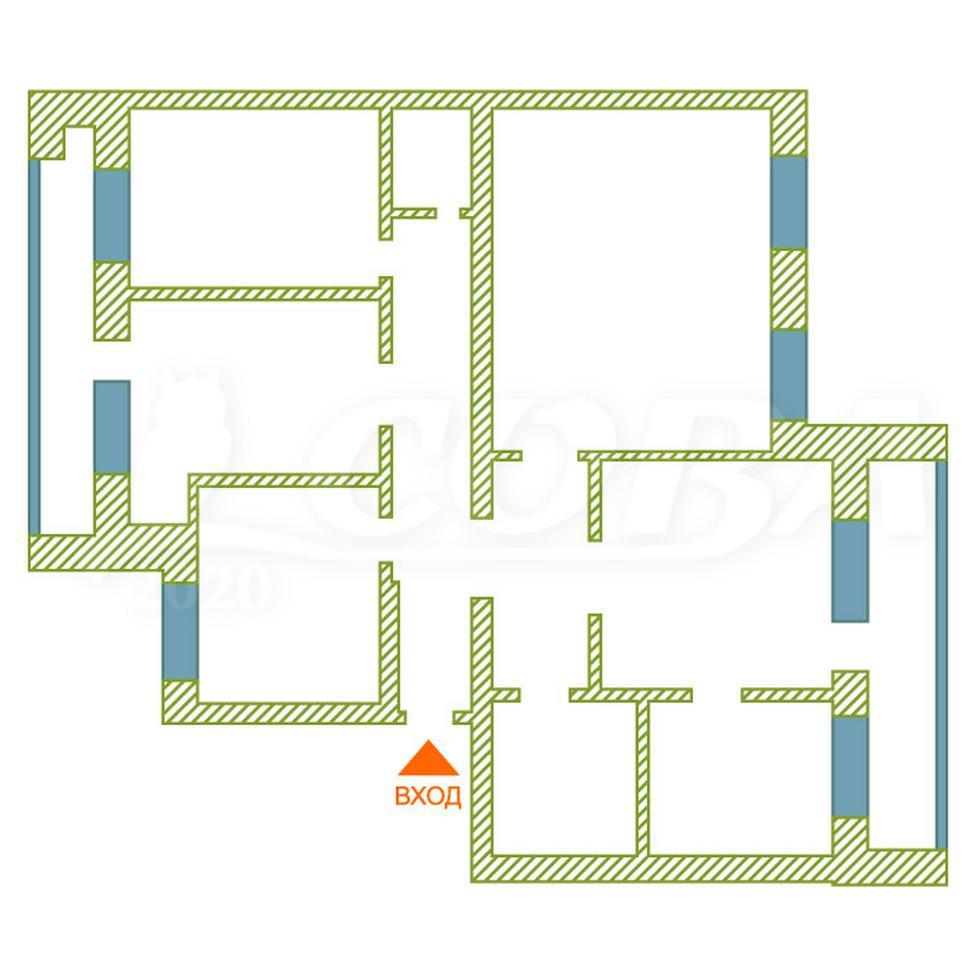 4 комнатная квартира  в деловом центре, ул. Ялуторовская, 29, г. Тюмень