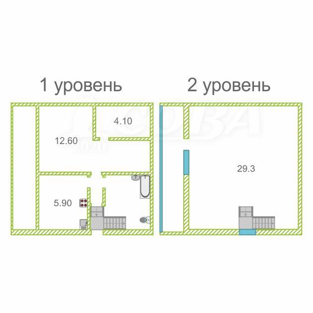 2 комнатная квартира  в районе Стрела, ул. Московский тракт, 14, г. Тюмень