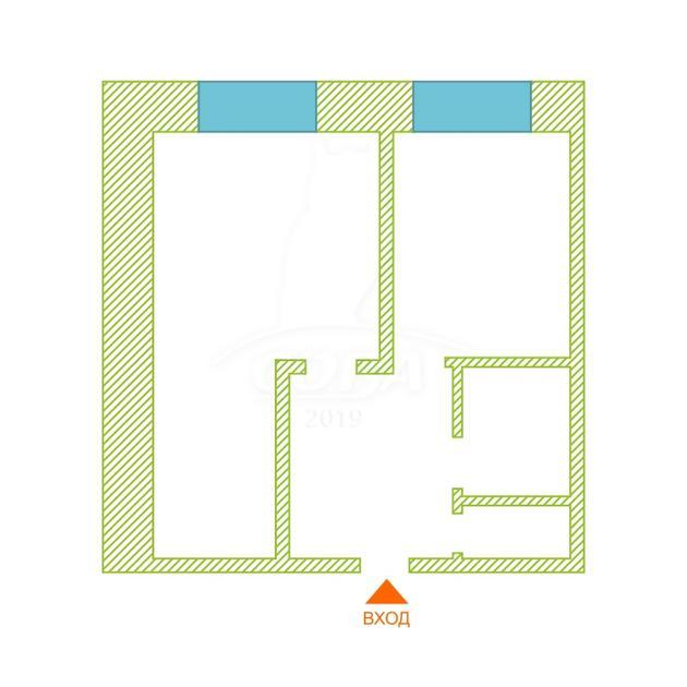 1 комнатная квартира  в районе Нагорный Тобольск, ул. Первомайская, 22В, г. Тобольск