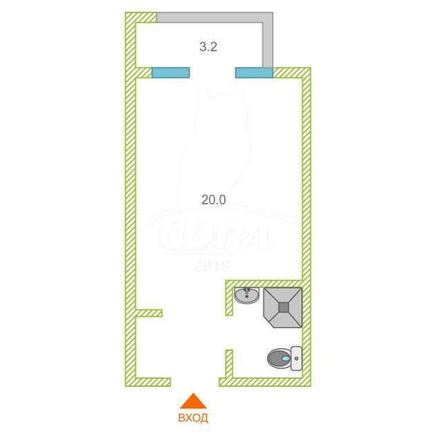 1 комнатная квартира  в районе Чкаловский, ул. Ленина, 219А/3, г. Сочи