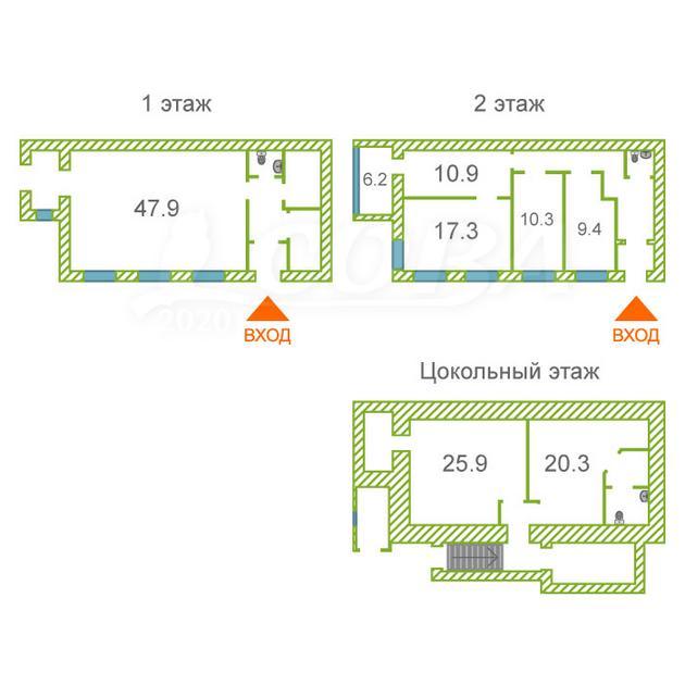 Нежилое помещение в отдельно стоящем здании, продажа, в районе Центральный, г. Сургут