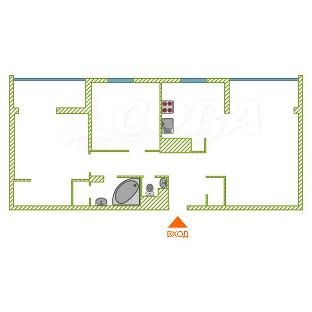 3 комнатная квартира  в районе Александрия, ул. Крылова, 36, Жилой дом
