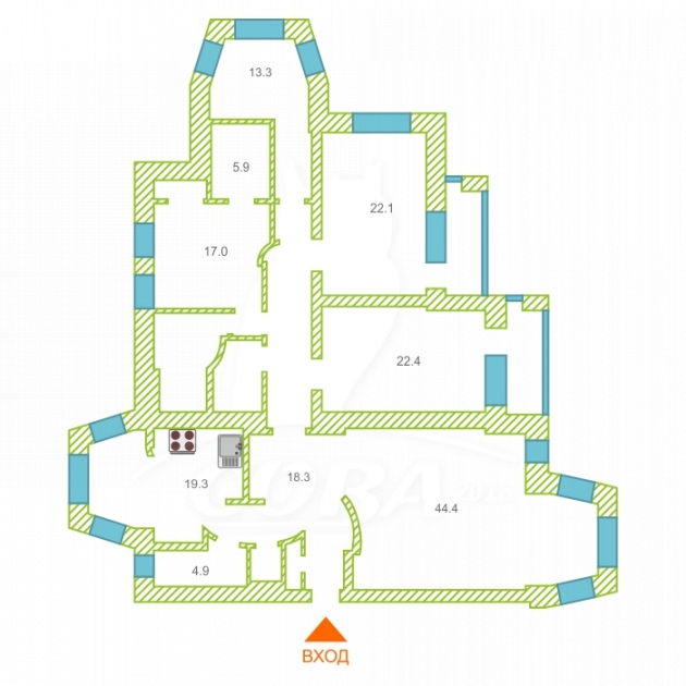 4 комнатная квартира  в районе Дома печати, ул. Немцова, 22, г. Тюмень