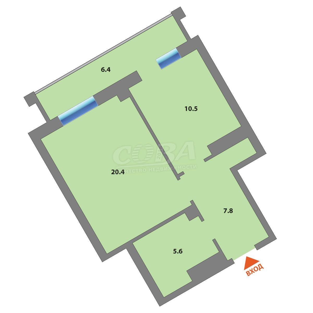 1 комнатная квартира  в Восточном 2 мкрн., ул. Широтная, 187/3, Жилой комплекс «Суходолье», г. Тюмень