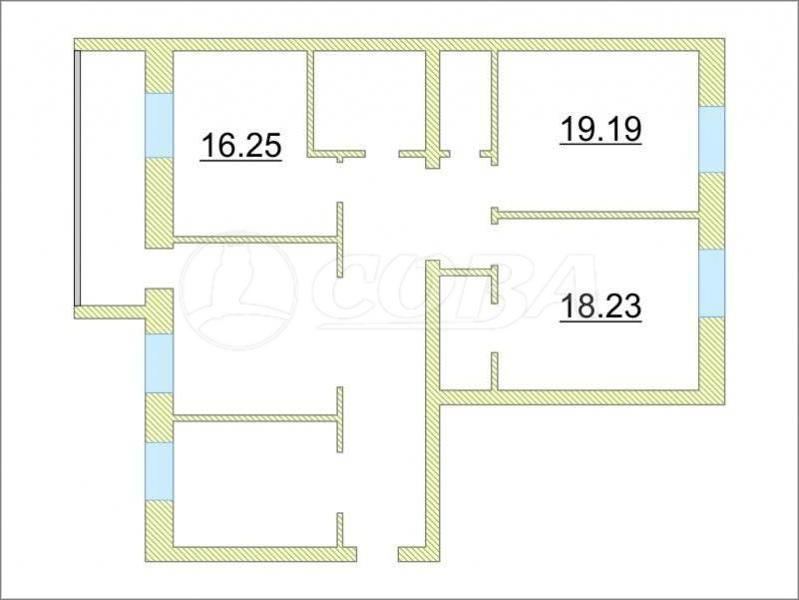 3 комнатная квартира  в Тюменском-3 мкрн., ул. Раушана Абдуллина, 1, ЖК «5-й Квартал», г. Тюмень