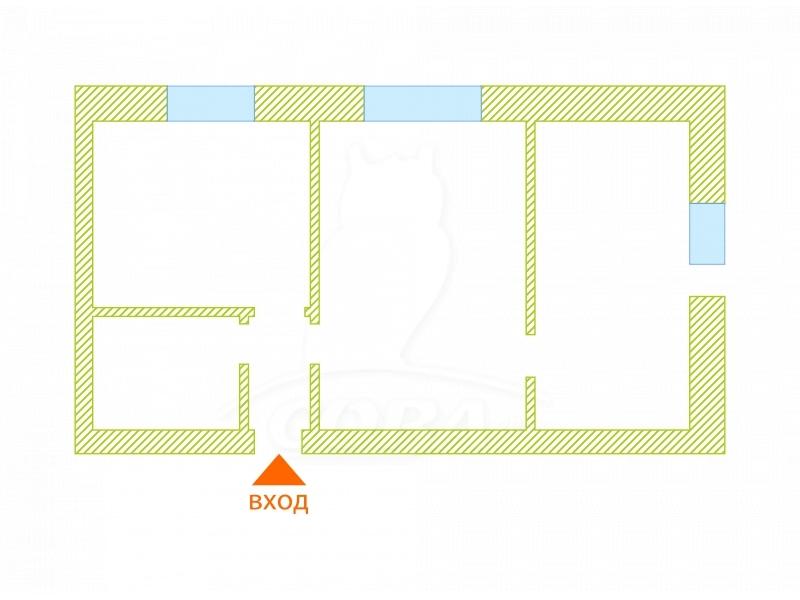 2 комнатная квартира  в районе Нагорный Тобольск, ул. 4-й микрорайон, 29Г, г. Тобольск