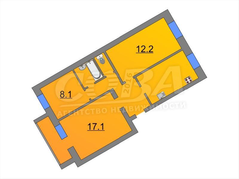3 комнатная квартира  в районе Парфенова, ул. Тимуровцев, 32, г. Тюмень